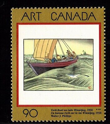 Canada No 1635, Canadian Art: York Boat On Lake Winnipeg,  Mint Nh