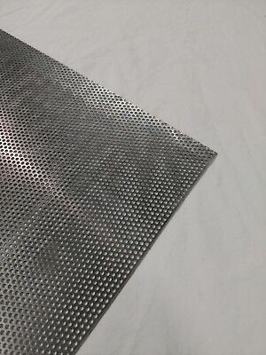 """Perforated Metal Aluminum Sheet 1/8"""" Thickness 12""""x 12"""" 1/8"""" hole 3/16"""" stagger"""