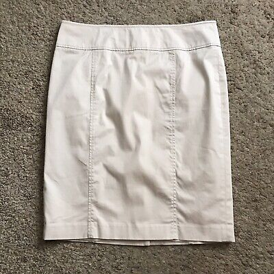 TALBOTS Womens Size 12 Khaki Tan Beige Pencil Straight Cotton Blend Skirt