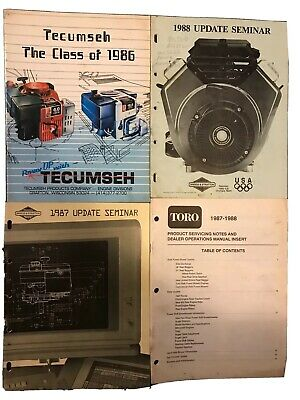 Misc. Small Engine Dealer Books Tecumseh Briggs And Stratton Toro Lot Of 4