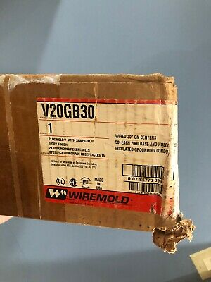Wiremold V20GB30 Plugmold W/ Snapicoil Ivory 20 Grounding Receptacles