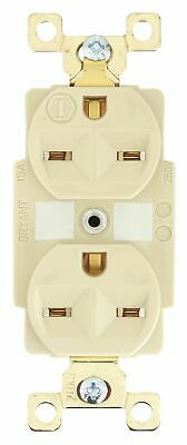 Bryant 15,  Harsh and Heavy Use Industrial,  Receptacle,  Ivory,  No Tamper
