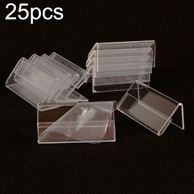 Acrylic Clear Desktop Sign Label Display Holder Price Name Card Tag Stand Racks