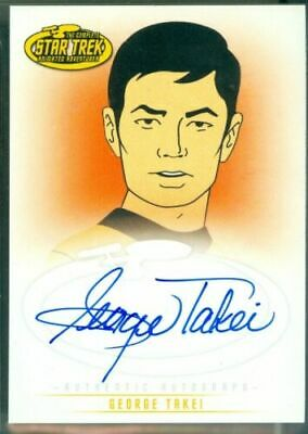 Star Trek Animated ( A3 ) George Takei as Lt Sulu Autograph Card