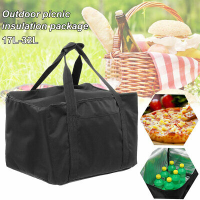 Pizza Delivery Bag Insulated Thermal Food Storage Picnic W/ Aluminum Foil