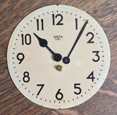 Smith - Sectric - metal clock face - vintage