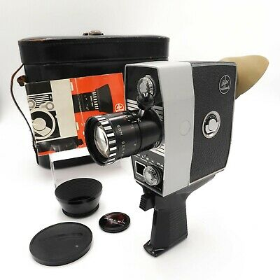 Bolex Paillard P4 8mm Zoom Reflex Film Camera w/ Case & Manual - Working XL-2010
