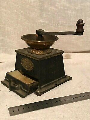 Antique Cast Iron Coffee Grinder / Coffee Mill - T & C Clark & Co
