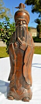 """12"""" Chinese Wood Carving"""