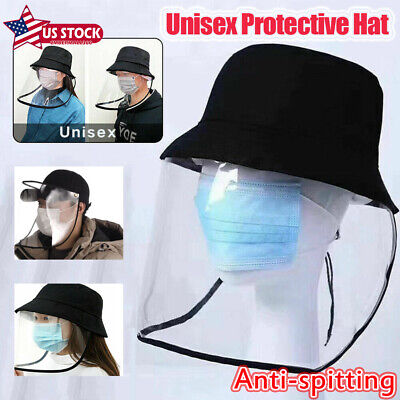 Outdoor Anti-spitting Protective Cap Cover Fisherman Hat Splash-Proof Unisex US