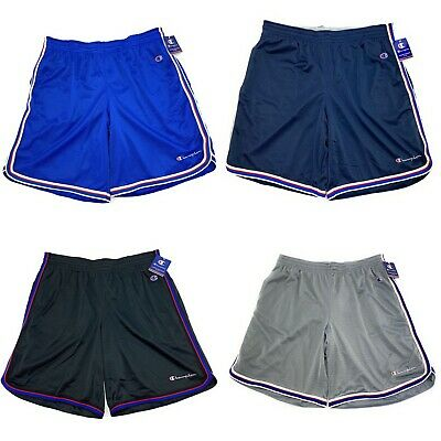 Champion Men's Core Lightweight Breathable Mesh Striped Basketball Shorts