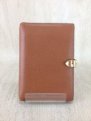 Auth GUCCI Loose-Leaf Notebook Cover Small Leather Brown used