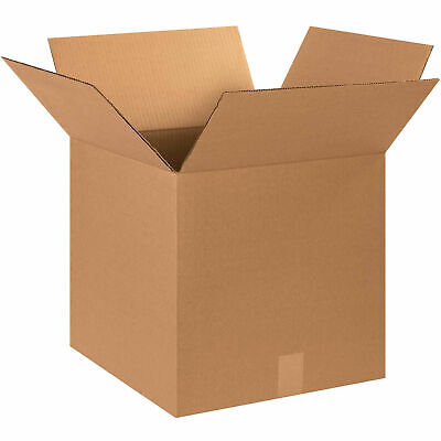 """15"""" x 15"""" x 15"""" Cube Cardboard Corrugated Boxes, 65 lbs Capacity, 200#/ECT-32,"""