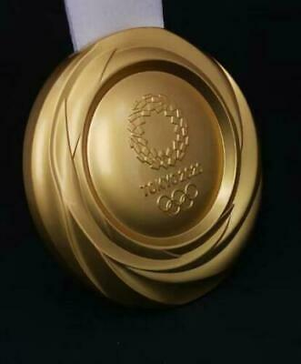 2020 Tokyo Olympic Gold Medal Replica With Ribbon 1:1 Size Weight