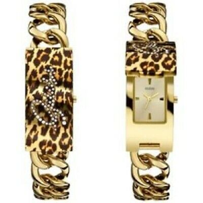 New Authentic GUESS U0321L5 Gold-Tone Stainless Steel Bracelet Watch 42x19mm NWT