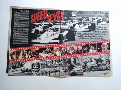 Speed Fever Ronnie Peterson James Hunt Luv Teens Frampton clippings Germany