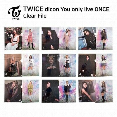 TWICE x Dicon Magazine You Only Live ONCE Official Goods Clear File K-POP KPOP