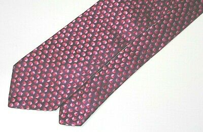 Paul Smith made in Italy colorful geometric thick setting all silk tie. G2-783-2