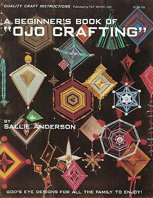 A Beginner's Book of OJO Crafting God's Eye Weaving Designs VTG Craft Patterns