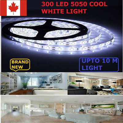 5050 Led Strip Light Cool White 300 Waterproof  Bright  DC 12 V 5M/10M Light