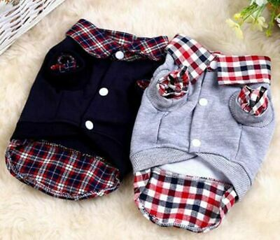 Pet Dog Jacket Sweater Coat Soft Apparel Clothes Winter Outfit Warm Fleece Puppy