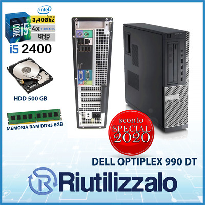 PC DELL OPTIPLEX 990 DT -INTEL CORE I5 - fino a 3.40ghz-RAM 8GB-HDD 500GB