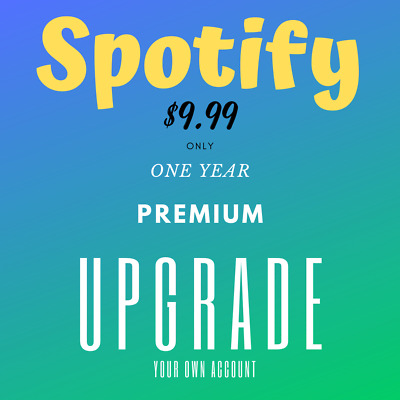 Spotify Premium | 12 Months | Real Upgrade Your Own Account In Minutes