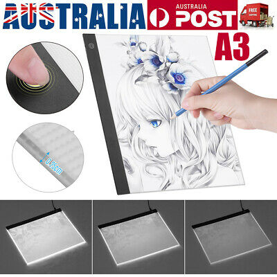 A3 Dimmable LED Light Box Tracing Drawing Board Art Design Copy Lightbox AU D2G4