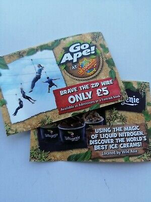 New 2 Chessington tickets Any 'Week Day' Except School Hols. Please Read Notes