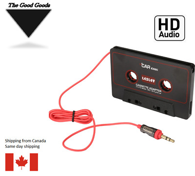 Audio 3.5mm Cassette Tape Adapter Aux Cable Cord Jack iphone ipod