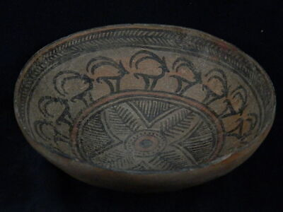 Ancient Large Size Teracota Painted Bowl With Animals Indus Valley 2500 BC PT183