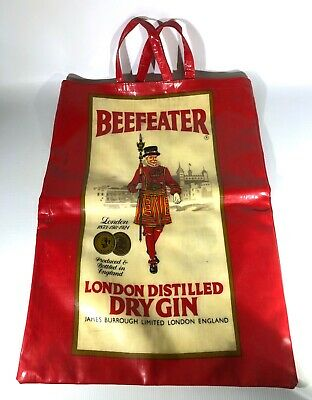 RARE Vintage Beefeater Gin Promotional Bottle Bag - Made In England