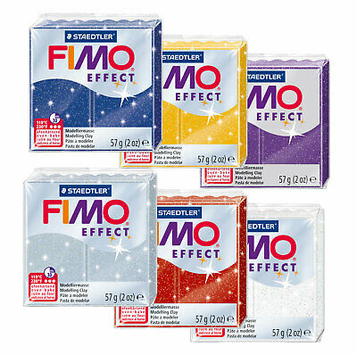 Fimo Effect GLITTER 57g Polymer Clay Full 6 Colour Range Modelling Craft Kit