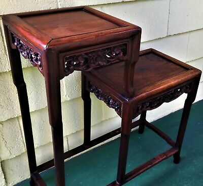 Qing Dynasty Chinese Huanghuali Black rosewood Shuangzhi (酸枝木) tear table