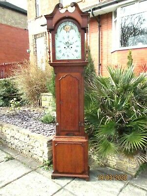 "Longcase Clock, 30hr. Moonpahase, with Calendar, 1800, by  "" Brough "" Workington"