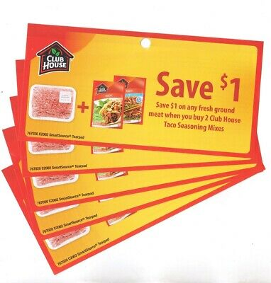 14 x Save $1.00 on Fresh Ground Beef WUB Club House Seasonings Coups (Canada)