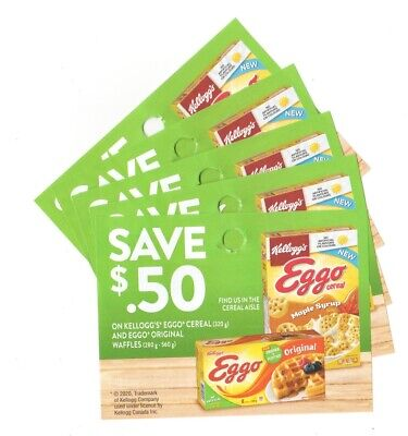 14 x Save $0.50 on Kelloggs Eggo Products Coups (Canada)