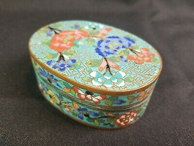 RARE Top Quality Chinese Cloisonne Vanity Compact Box