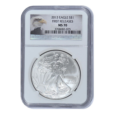 2013 American Silver Eagle NGC MS70 First Release