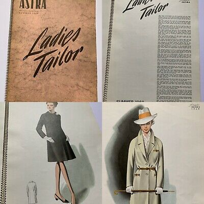 LARGE ASTRA STUDIO LADIES TAILOR 1960s Fashion Trade Catalogue Textile Patterns