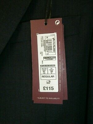 Marks and Spencer Luxury Collection Suit Tailored fit size 38 navy blue - BNWT