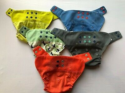 GroVia Cloth Diaper Lot of 5 Hybrid Shells