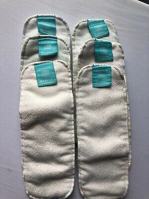Lot of 6 Small Cloth Diaper Inserts, Charlie Banana, Pre-Owned (Med/Large Size)