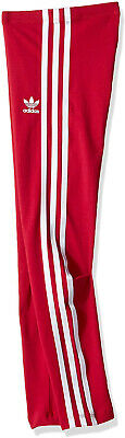 New Adidas Originals Junior Girls 3 Stripes Leggings Pink S96118 SZ M (9-10Y)