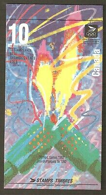 BK144b 42¢ Winter Olympics Booklet of 10  Open Cover With TI