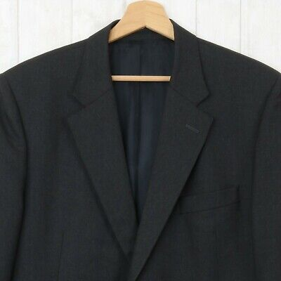 Gieves & Hawkes 44 R Mens Classic Dark Charcoal Grey 100% Wool Blazer Jacket