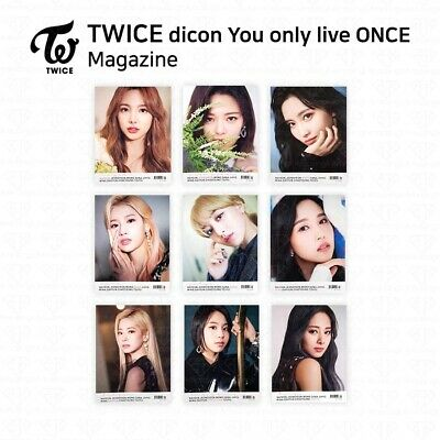 TWICE x Dicon You Only Live ONCE Magazine Only K-POP KPOP 236P