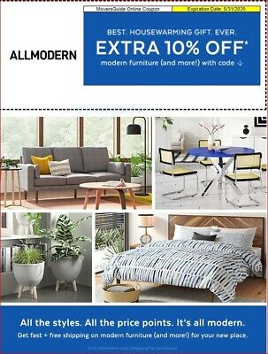 10% OFF -- ALLMODERN coupon expires 5/31/2020
