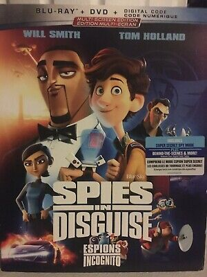 Spies In Disguise Blu-Ray & DVD w Slipcover Canada Bilingual NO DC LOOK
