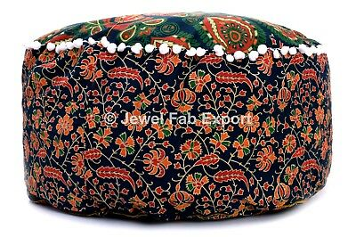 Indian Foot Stool Pouf Cover Hippie 100%Cotton Floor Mandala Ottoman Cover